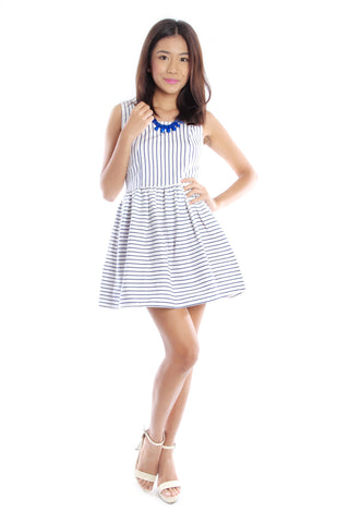 Allison Stripe Dress (Blue)