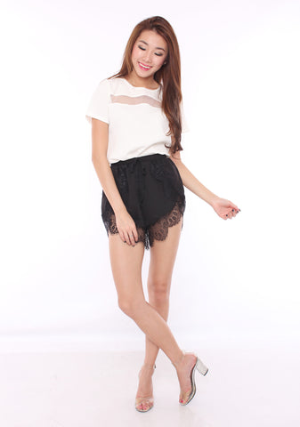 Josie Lace Shorts (Black)