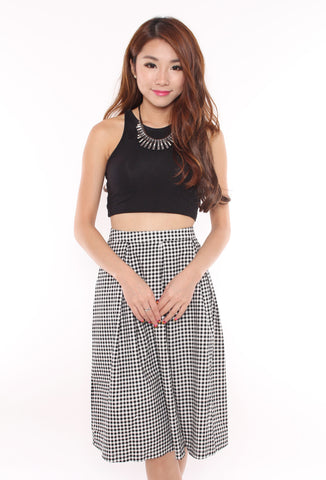 Kyleigh Gingham Midi Skirt