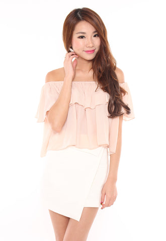 Nayla Off-Shoulder Top (Peach)
