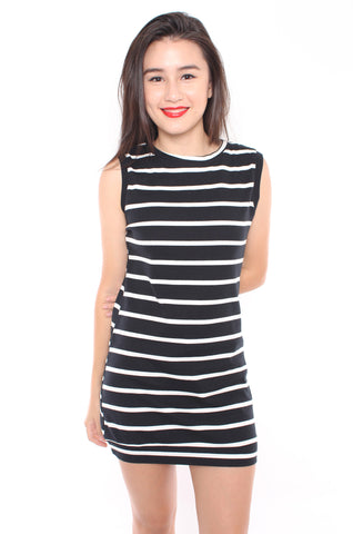 Shiloh Stripe Dress (Black)