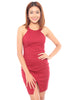 Valora Slit Dress (Wine)