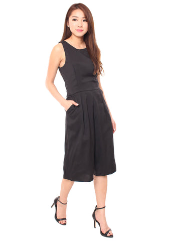 Jelsa Culottes Playsuit (Black)