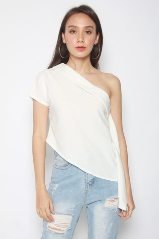 Nadane Toga Top (White)