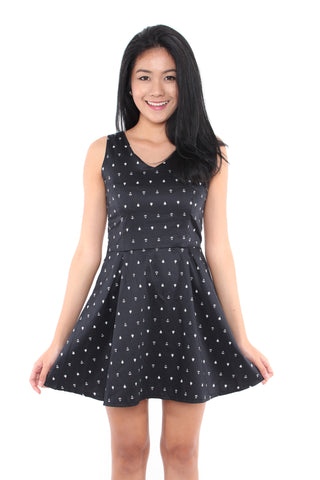 Sasha Sailor Dress (Black)