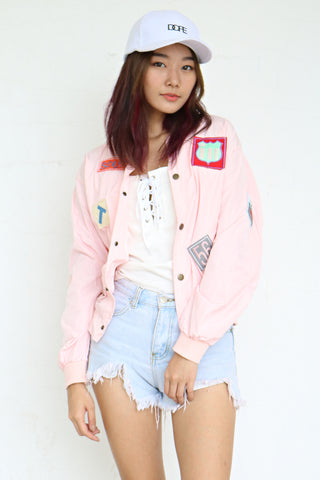 Lykes Patch Bomber (Pink)