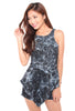Orella Marble Playsuit (Black)