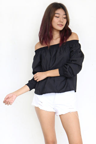 Ovald Off Shoulder Top (Black)