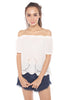 Fiala Off-Shoulder Top (White)