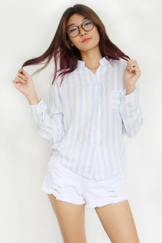 Sleasha Stripe Top (Blue)