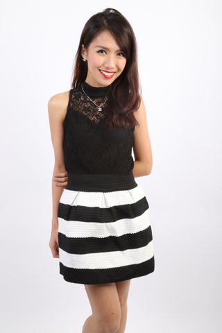 Nelly Oriental Lace Top (Black)