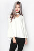Eilya Bell Sleeve Top (White)