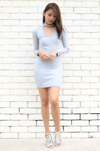 Wendyl Choker Dress (Grey)