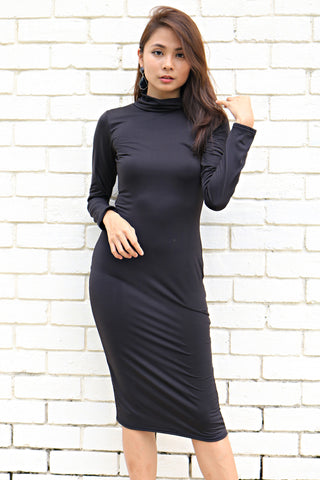 Kardashian Turtleneck Dress (Black)
