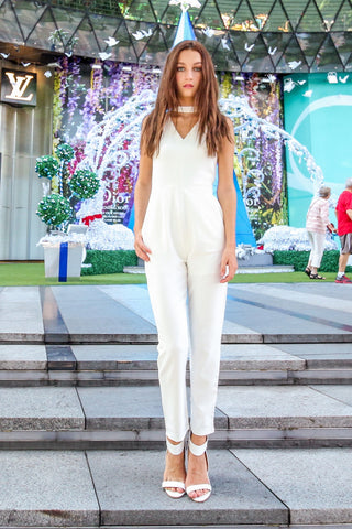Odell Jumpsuit (White)