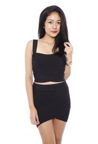 Ellison Bandage Skirt (Black)