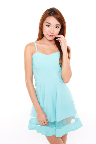 Ysabel Mesh Dress (Mint)
