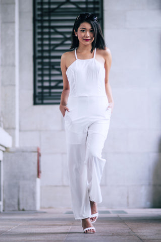 Polly Jumpsuit (White)