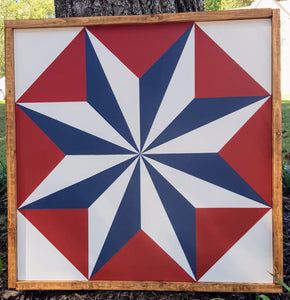 Tin Star Barn Quilt