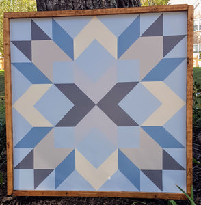 Peach Lily Barn Quilt