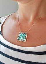 Load image into Gallery viewer, Barn Quilt Square Necklace