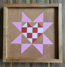 Load image into Gallery viewer, Wood Barn Quilt - Be Mine 1' x 1'