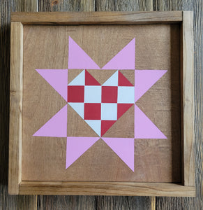 Wood Barn Quilt - Be Mine 1' x 1'