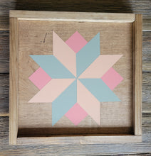 Load image into Gallery viewer, Wood Barn Quilt - Sweet Dreams 1' x 1'
