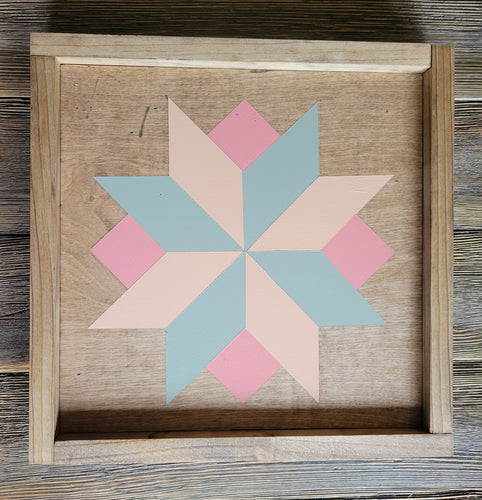 Wood Barn Quilt - Sweet Dreams 1' x 1'