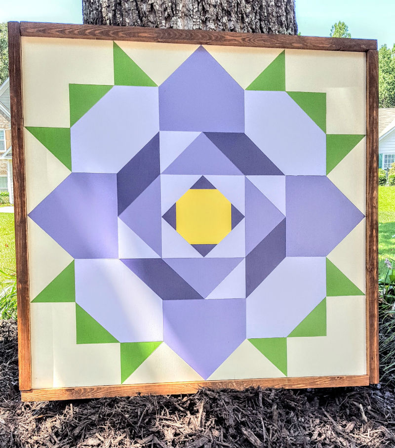 Golden Afternoon Barn Quilt
