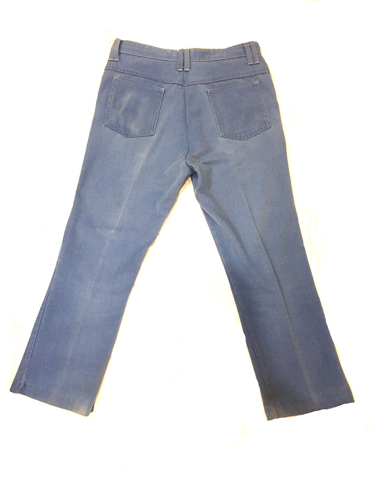 Blue Cotton Twill Trouser 34 x 28