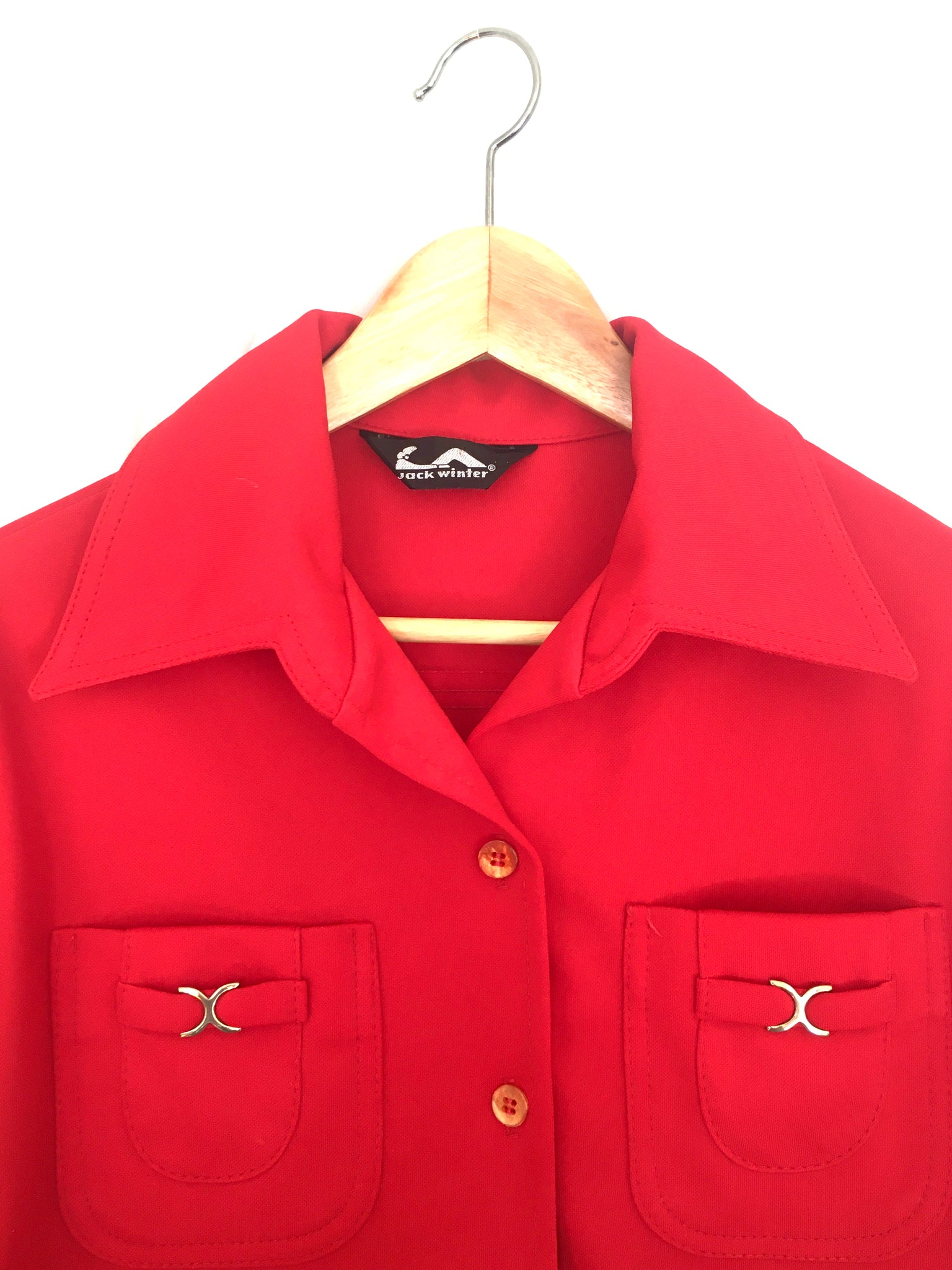 Red Leisure Suit Shirt