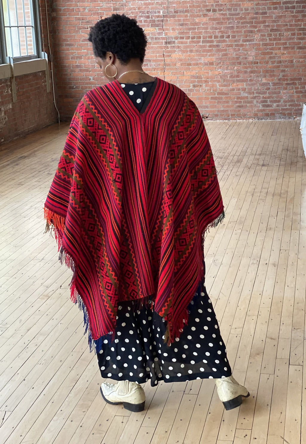 Hand-loomed Wool Poncho