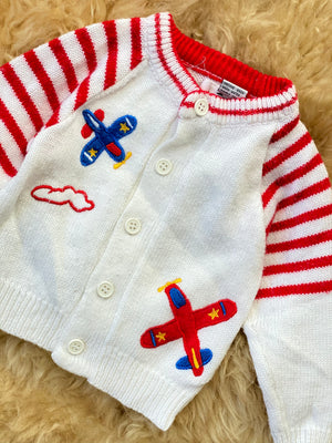 Airplane Sweater 12-18 Months