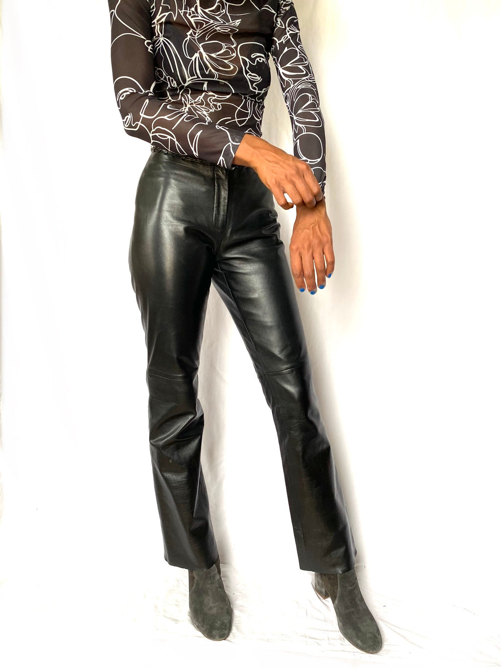 Black Leather Pants 32 x 31