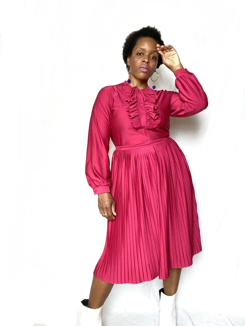ARCHIVAL -Cranberry Ruffle 2pc Set
