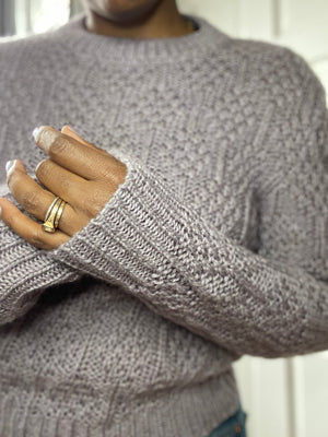 Lavender Cable Knit Sweater No. 1