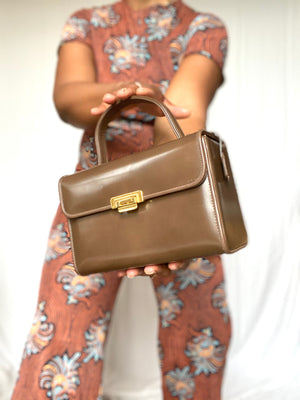 Chestnut Brown Box Bag