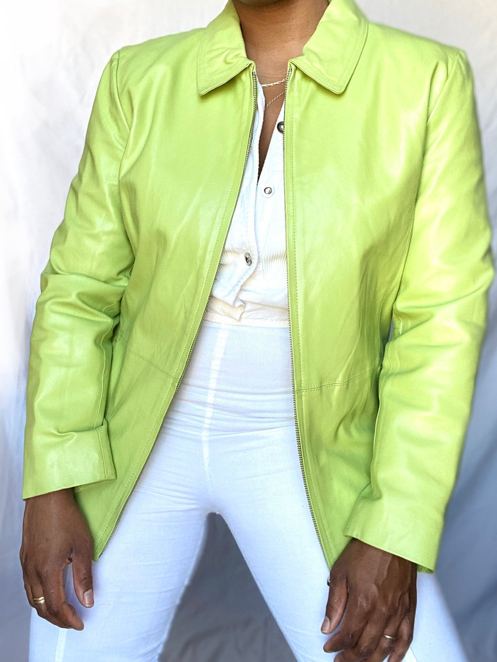 Lime Green Leather Jacket