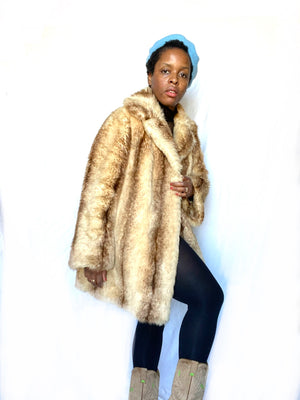Faux Fox Fur Coat