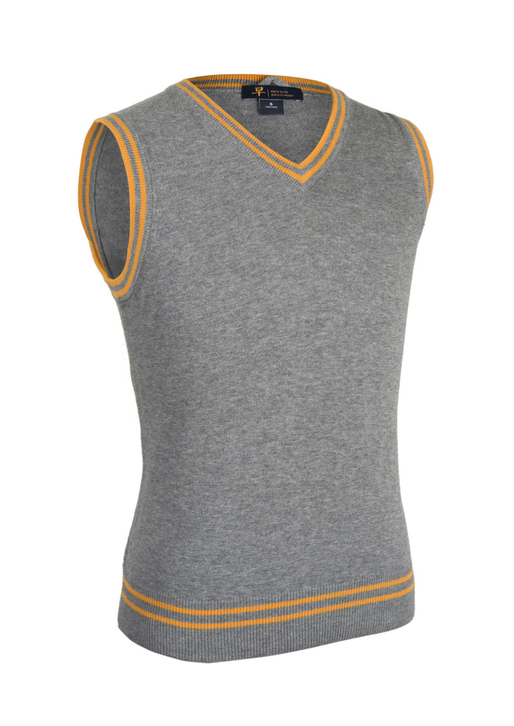 V-Neck Collar-Stripe Color Vest