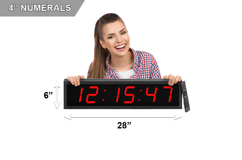 Large 4 Led Countdown Count Up Clock Bigtimeclocks