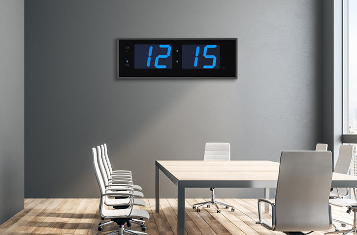 THE GIANT 8″ NUMERALS BLUE LED CLOCK (4429730906158)