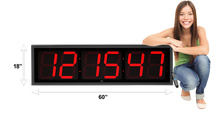 Load image into Gallery viewer, EXTRA LARGE 12″ NUMERALS LED COUNTDOWN / UP CLOCK (4429730185262)