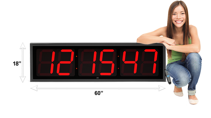 EXTRA LARGE 12″ NUMERALS LED COUNTDOWN / UP CLOCK (4429730185262)