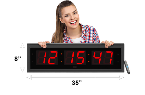 EXTRA LARGE 5″ LED COUNTDOWN / UP CLOCK (4429730218030)