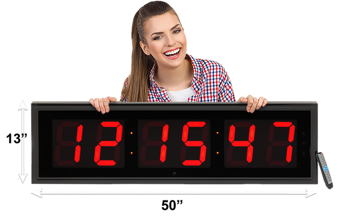 EXTRA LARGE 8″ LED COUNTDOWN / UP CLOCK (4429730250798)