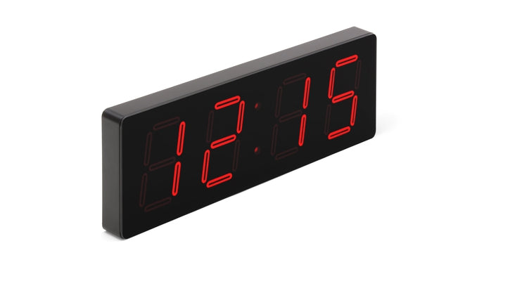 HUGE 5″ HIGH VISIBILITY PATENTED ELEGANT LASER RED LED CLOCK (4429730414638)