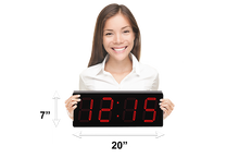 Load image into Gallery viewer, HUGE 5″ HIGH VISIBILITY PATENTED ELEGANT LASER RED LED CLOCK (4429730414638)