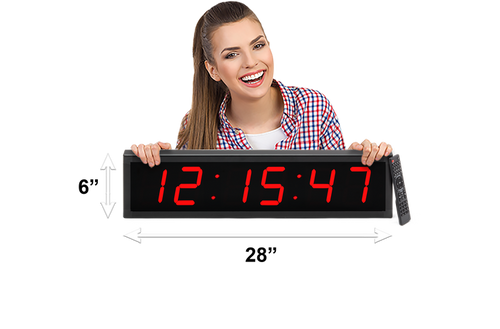 "LARGE 4"" LED COUNTDOWN/COUNT UP CLOCK (4429730512942)"